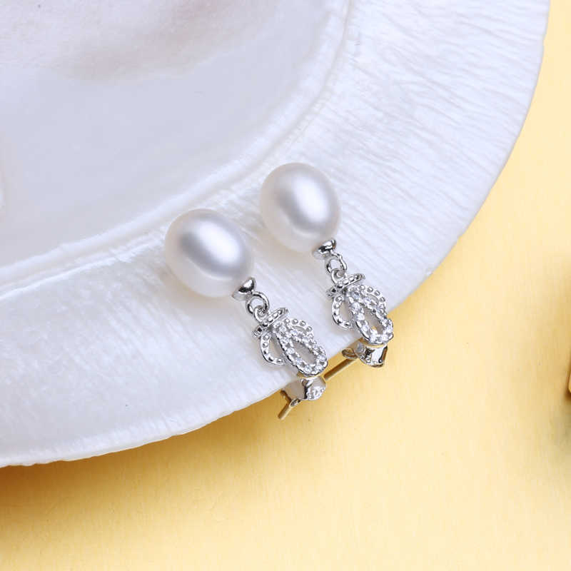 FENASY Trendy Crown Jewelry SetsBlack White Pearl Earrings And Necklaces For Women Best Friends pendantbridal Jewelry Sets