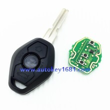 Remote key for BMW 3 5 7 SERIES E38 E39 E46 HU58 (Fits: BMW)3button remote 433mhz with 7935 ID44 Transponder chip uncut blade