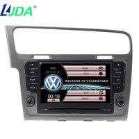 LJDA One Din 7 Inch Car DVD Player For VW Golf 7 2013 2017 Bluetooth Radio