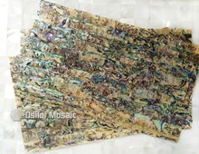 A grade natural surface abalone paua shell laminate for musical instrument and furniture inlay