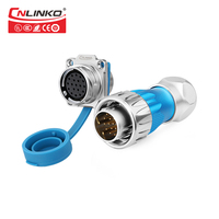 M24 Series 19 Pin Panel Mount Waterproof Connector IP67 Male Female Connectors, Mechanical Power Cable Panel Mount Plug & Socket