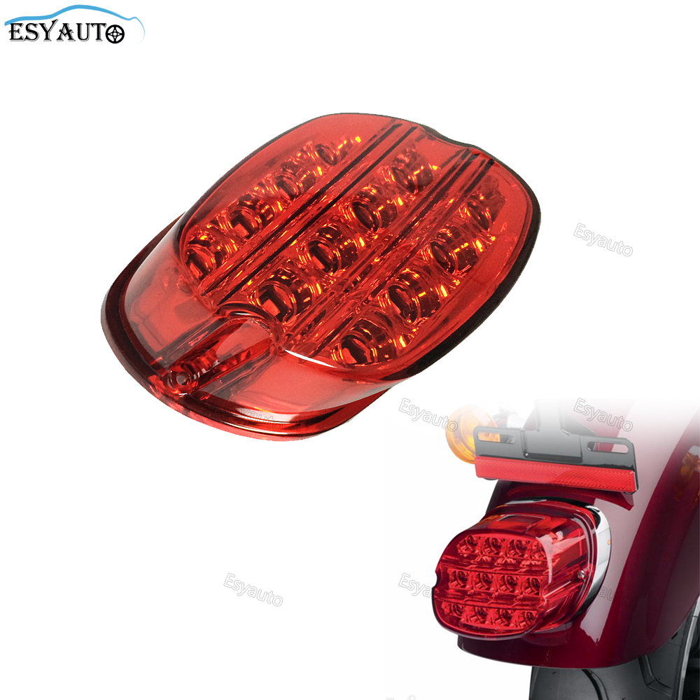 Bicycle Led Brake tail light Night Train FLSTF FXSTB Softail Sportster Road King Electra Glide Road Glide For Harley Fatboy matte black 5 stretched hard saddle bags latch side bag for harley road king road street glide softail dyna and sportster 93 13