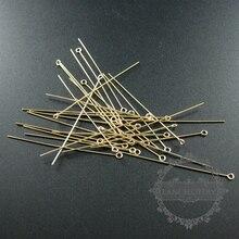 22 Gauge 0.64X50.8 Mm Gold Filled Hoge Kwaliteit Kleur Niet Aangetast Kettelstift Diy Kralen Sieraden Benodigdheden Bevindingen 1515013