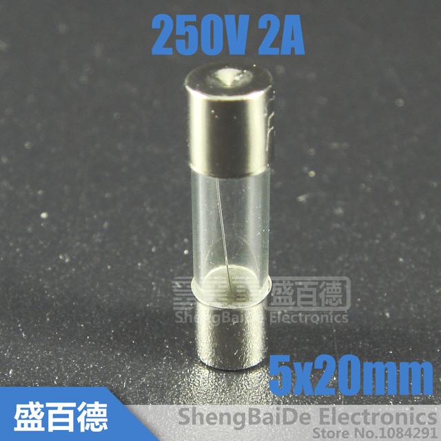 20pcs/lot Fast Quick Blow Glass Tube Fuse 5x20mm 250V 2A F2AL250V