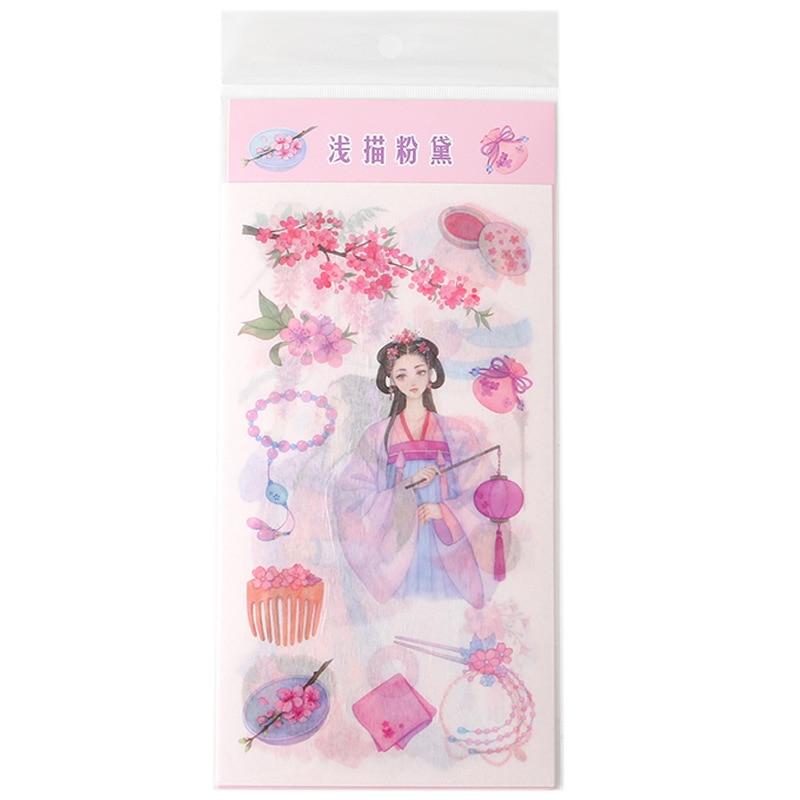 Купить с кэшбэком Cartoon Series Washi Paper Stickers Creative Freshness Diary Book Scrapbook Decoration Material Life Stickers
