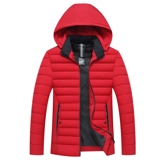 Big Promo Winter Mens Jackets cotton parka Casual New Hooded Thick Padded Mens Jacket Coats Warm Zipper Slim Tops Outwear