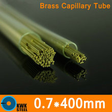 OD 0.7mm * 400mm Length Brass Capillary Pipe Small Diameter Tube of ASTM C28000 CuZn40 CZ109 C2800 H62 Electrode Material