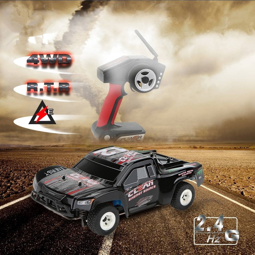 Newest  A232 1/24 2.4G Short Course Electric Brushed 4WD RTR RC Car Off-road Buggy RC Drift Car Toys for kids vs A979 L202 wltoys k969 1 28 2 4g 4wd electric rc car 30kmh rtr version high speed drift car