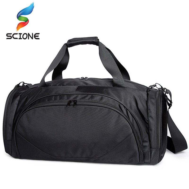 Waterproof Gym Bags For Fitness Shoulder Bag Travel Yoga Handbag Outdoor Sports Women Men Sac De Sport Basketball Training Bag 2018 new sport fitness bag for women and men surper light waterproof nylon gym crossbody bag athletes training luggage handbag
