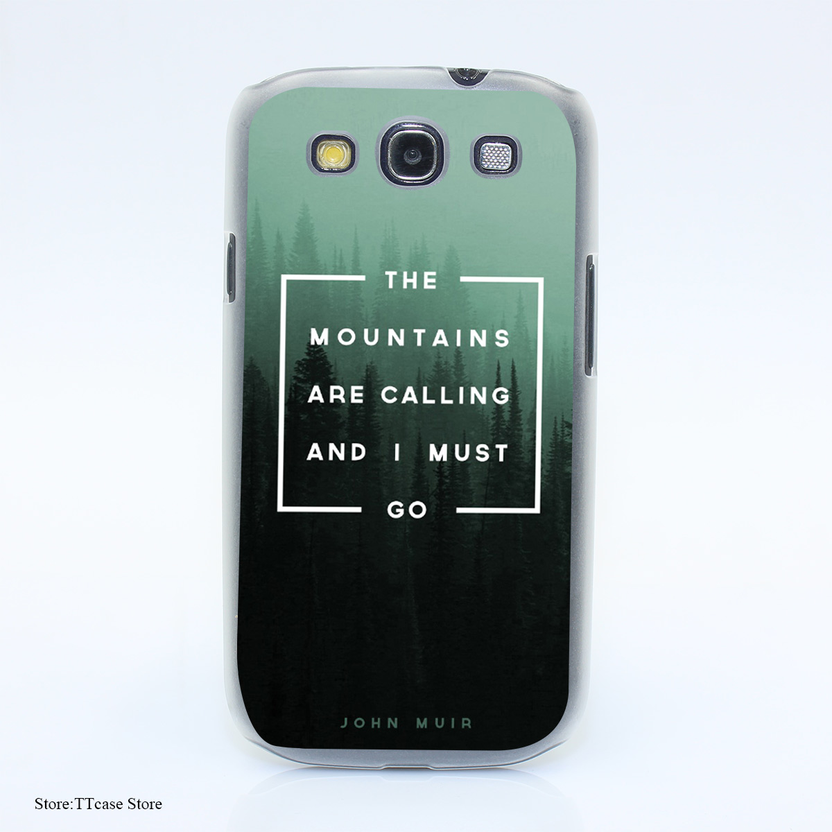 3451G The Mountains Are Calling Xlm Print Hard Transparent Case Cover for Galaxy S3 S4 S5 & Mini S6 S7 & edge