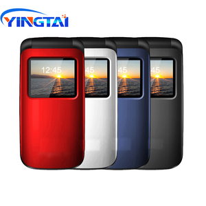 Image 4 - YINGTAI T40 Big push button cheap flip phone for elder Unlocked 1.77 inch wireless FM SOS telephone  Express mobile phone