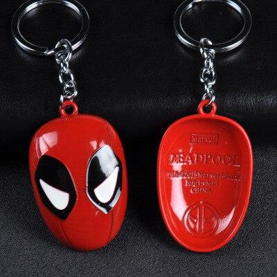 Металлический брелок Marvel, Мстители, Капитан Америка, щит, Человек-паук, Железный человек, маска, брелок, игрушки, Халк, Бэтмен, брелок, подарок, игрушки - Color: Apricot