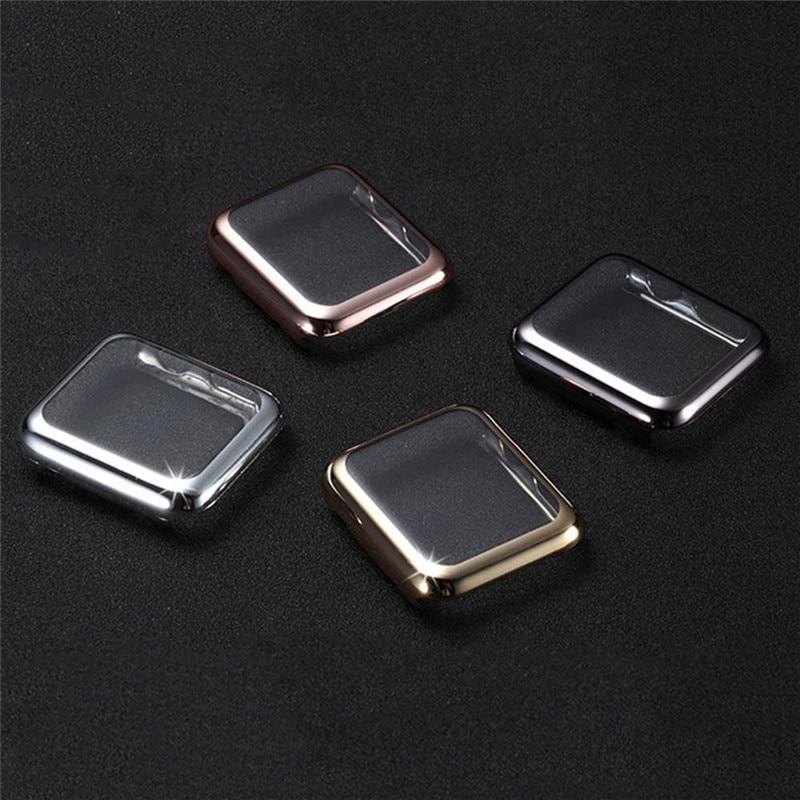 100pcs Superior 42mm 38mm <font><b>Screen</b></font> <font><b>Protector</b></font> Ultra-Thin Electroplate Metal Plated Hard Case For Apple Series 1 2 Plating <font><b>Watch</b></font>