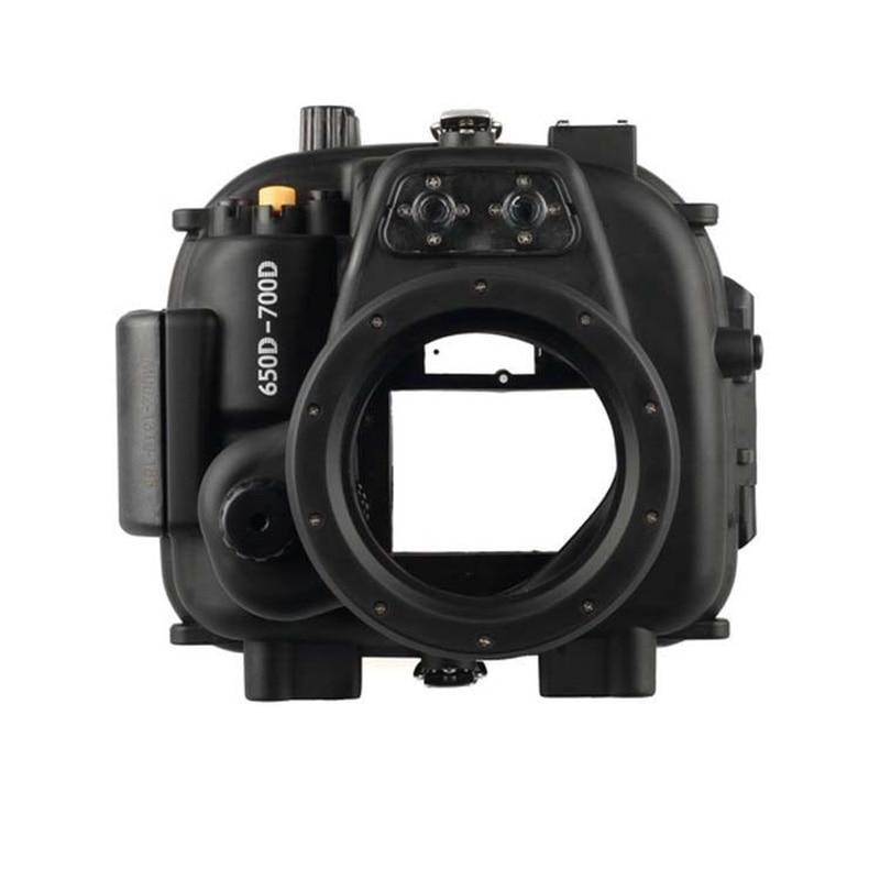 Meikon boîtier étanche sous marin pour Canon EOS 650D 700D-in Sacs pour appareil photo from Electronique    1