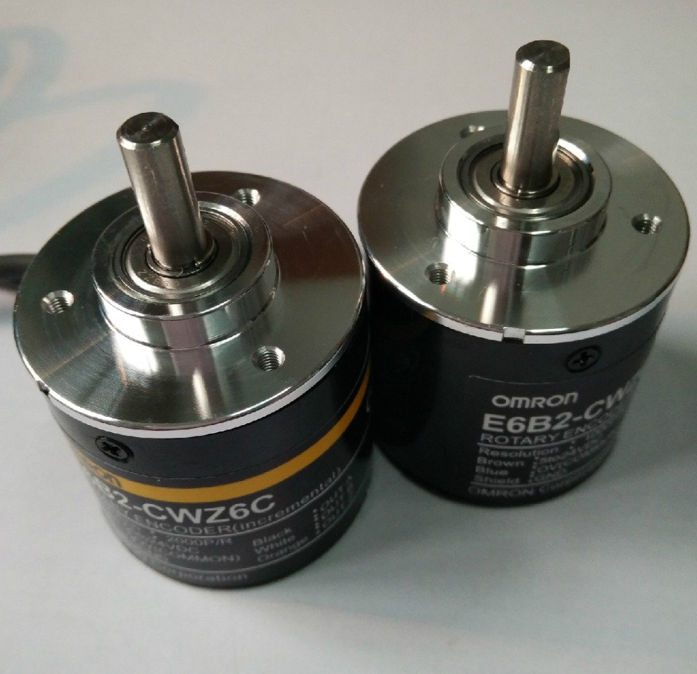 Free Shipping E6B2CWZ6C OMRON Rotary Encoder E6B2 CWZ6C 20 30 40 60 100 200 360 400 500 600 1000 1024 1800 2000 2500P/R 5 24v-in Switches from Lights & Lighting