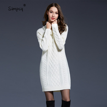 Standard Pullovers Long Real Rushed Poncho Feminino Blusas De Inverno Feminina Jumper Charm Women Dress Sweater
