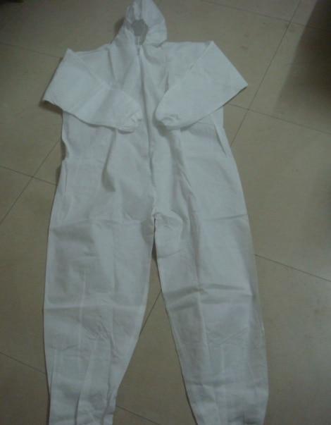 5pcs Lot White One Piece Blue Non Woven Protective