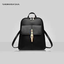 2017 New Backpacks For Women Fashion Cute High Capacity Shoulder Bags Zipper Pocket PU Female Backpacks For College Students