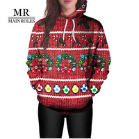 MAINROLES Hoodies Women Plus Size Autumn Christmas Casual Full Hooded Pullovers 2XL Sweatshirts Womens Hoodies Women