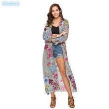 Summer Women Bohemian Shirt Dress Floral Print Chiffon Dresses Ladies Long Maxi Beach Female Autumn Vestidos 2019