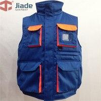 Jiade Mannen tooling katoen multi-pocket vest katoenen vest katoen vest tooling functionaliteit katoen vest gratis verzending