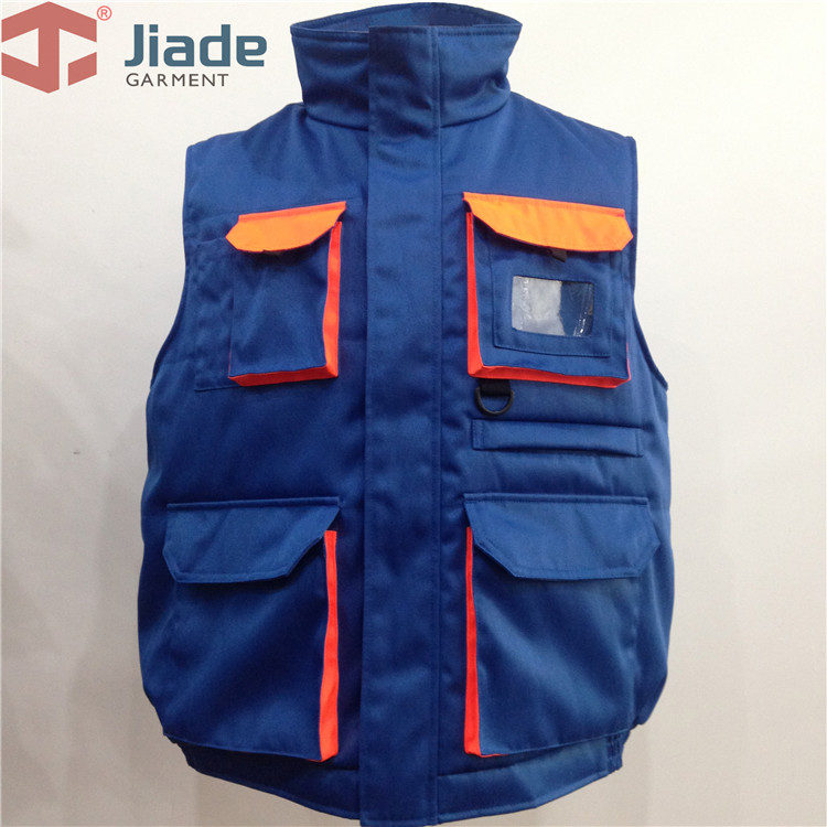 Jiade Men tooling cotton multi pocket vest cotton vest cotton vest tooling functionality cotton vest free shipping