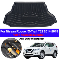 Rear Boot Cargo Liner Tray Trunk Luggage Floor Mats Carpets Pad For Nissan X Trail XTrail Rogue 2014 2015 2016 2017 2018 2019