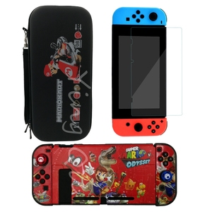 Image 5 - NEW for Nintend Switch NS NX Console Carrying Storage Bag + Shell Cover Case + Tempered Glass Screen Protector + 2 Grip Caps