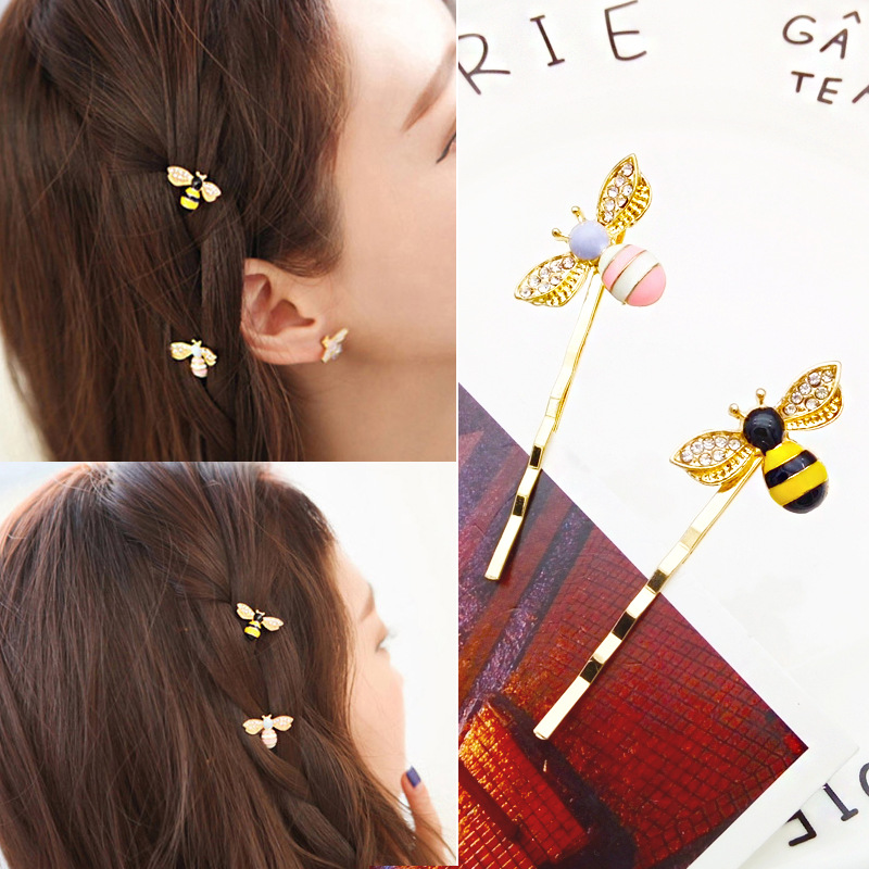 Girl's Hair Accessories Apparel Accessories 1 Pc Metal Cute Bee Hair Clips Girls Hair Grips Barrettes Hairpin For Women Hair Accessories