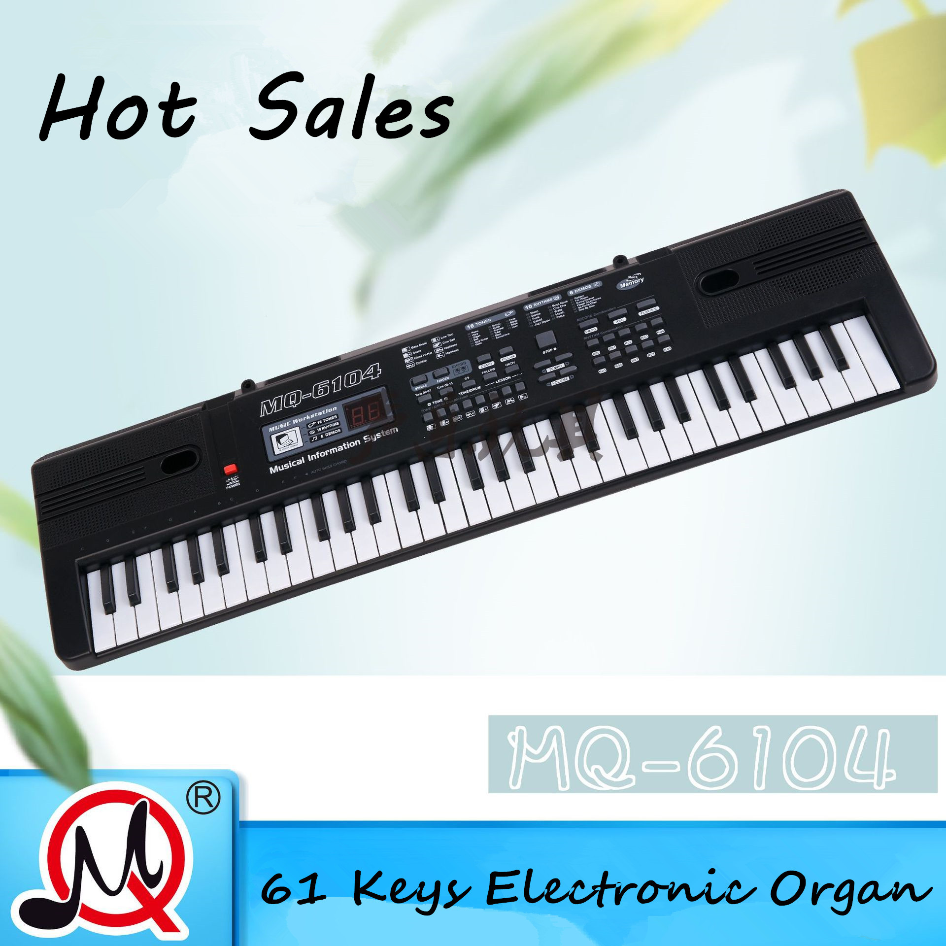 61 Keys Electronic Organ Music Keyboard Electric Piano With Microphone For Children Beginner