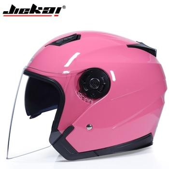 JIEKAI Motorcycle Helmets Electric Bicycle Helmet Open Face Dual Lens Visors Men Women Summer Scooter Motorbike Moto Bike Helmet 14