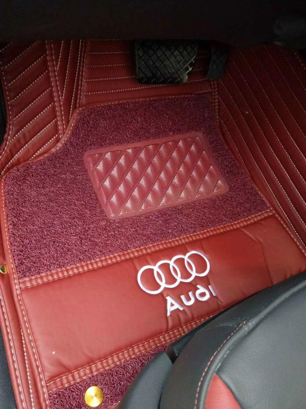 3d 5d custom-fit avec logo pvc tapis de voiture en cuir pour ranger rover prado lc200 mazada benz