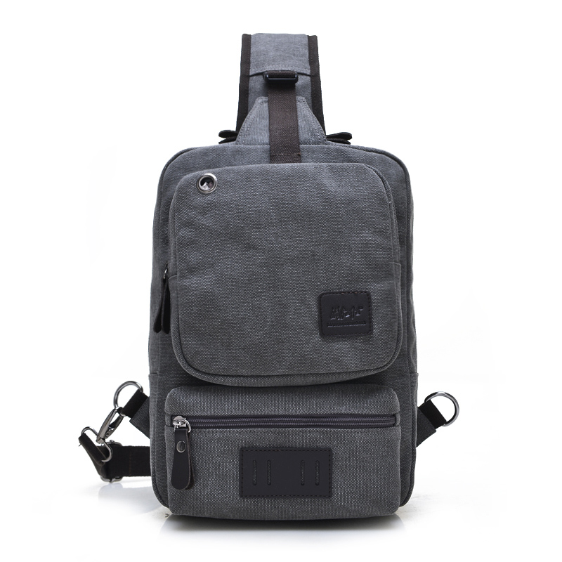 2017 New Men Canvas Travel  Riding Cross Body Messenger Shoulder Sling Back Pack Chest Bag