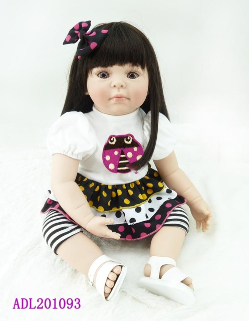 50cm Silicone Vinyl Reborn Baby Doll toys accompany sleeping girl doll lifelike fashionable toddle girls dolls