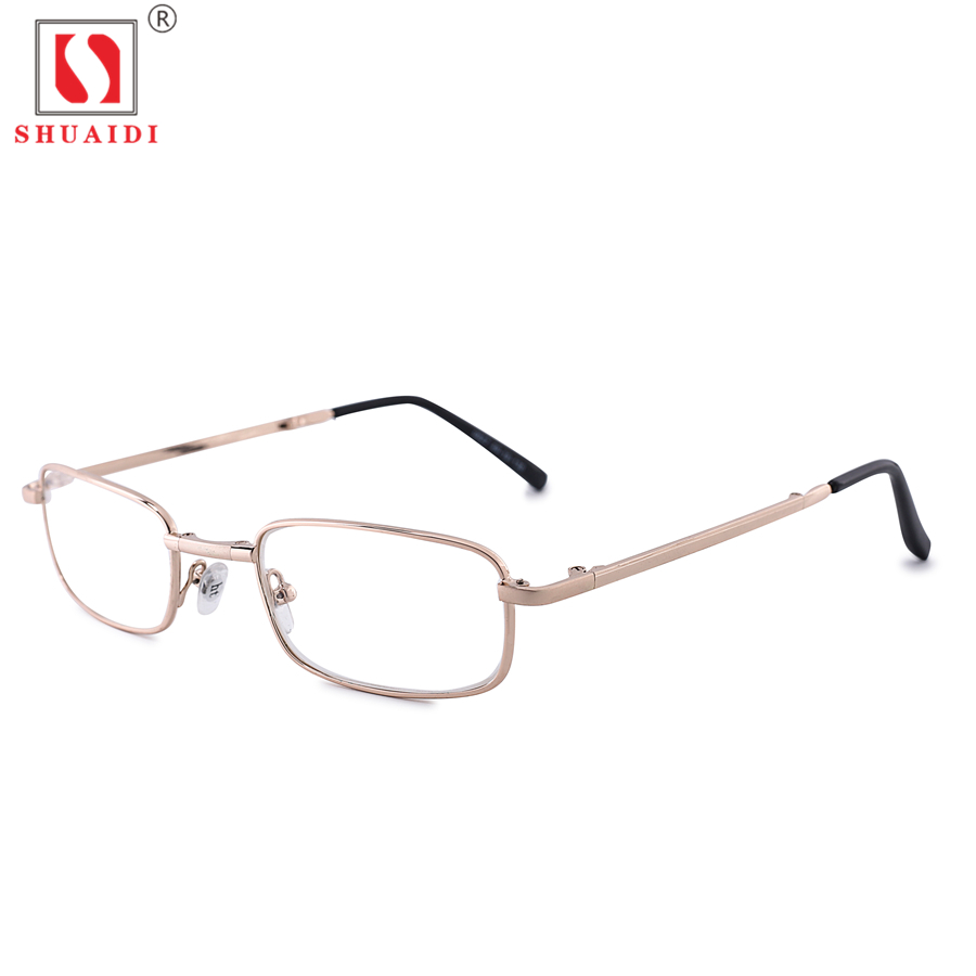 Women Men Full Metal Frame Folding Reading Glasses Unisex Foldable Presbyopia Eyewear with Case +1.00 to +4.00