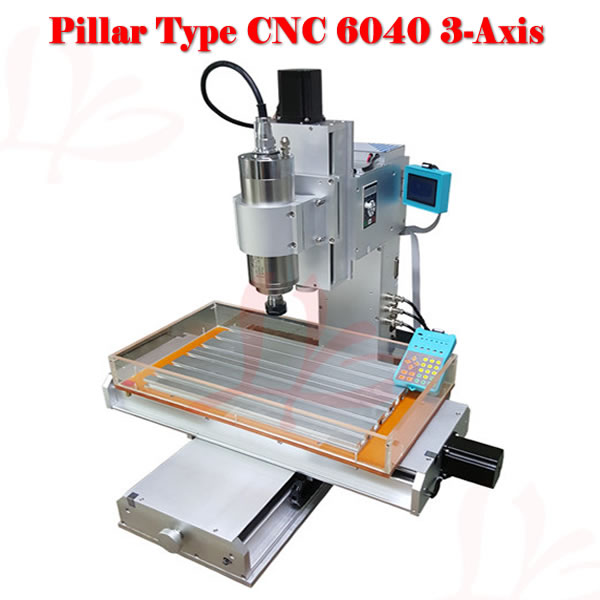 wood metal lathe 6040 CNC milling machine high performance with water tank cnc router wood milling machine cnc 3040z vfd800w 3axis usb for wood working with ball screw