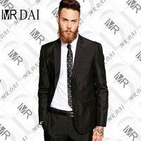 MD 0021 High Quality Men Black Tuxedo Men Suit 2 Pieces Mens Formal Suits Costume Homme