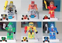 Wholesale SL8917 Robot Amber Roy Taxi Helly School Bus Poli Toys Set DIY Girl Action Robot Figures Minifigurs Building Blocks
