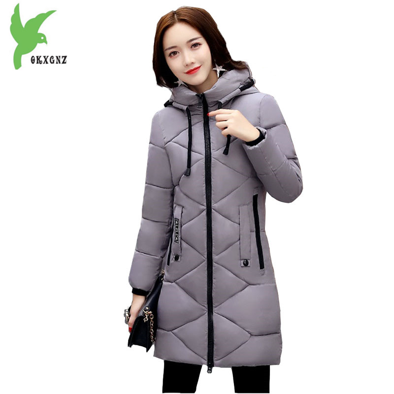 Women Winter Jackets Down Cotton Coats New Fashion Hooded Students Parkas Thick Warm Casual wear Plus Size Slim Outerwear OKXGNZ winter women s cotton jackets new fashion hooded warm coats solid color thicker casual tops plus size slim outerwear okxgnz a735