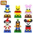 Loz bloques de construcción de juguetes de mickey y minnie mouse donald y daisy duck para seguridad de los niños felices educativos 9 +