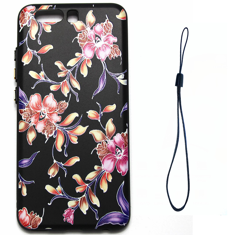 3D Relief flower silicone  case huawei p10 (6)