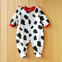 Baby Girl Footies Sleepwear Button Front Cotton One-Piece Clothes 3-12 Months
