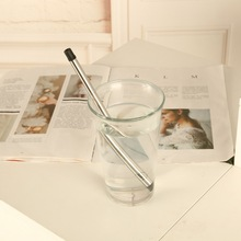 Eco-Friendly Collapsible Drinking Straws 304 Stainless Steel Sturdy Bent/Straight Drinks Straw with Cleaning Brush