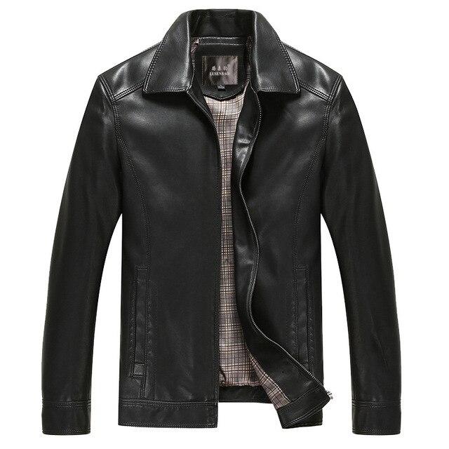 Mens Suede Jassen Fashion Leather Jackets Men Leisure Large Size Leather Jacket Men Motorcycle Brand Clothing  Leather Men Coat