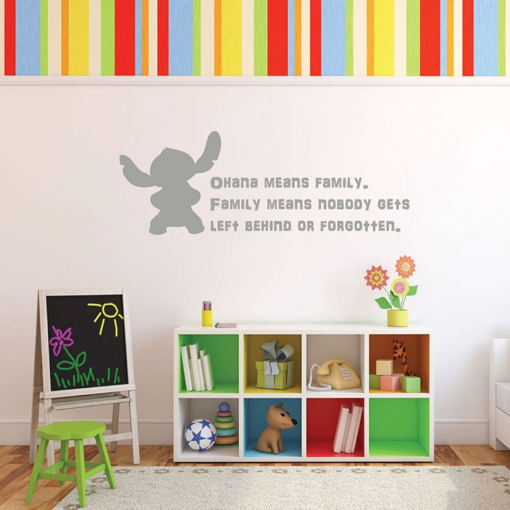 compare prices on wall decal quotes for kids online shopping buy cartoon vinyl wall sticker for kids rooms inspirational quote wall decal ohana means family nursery art