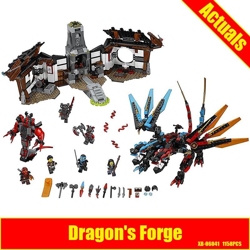 Lepin 06041 1158pcs Ninja Series Of Dragon Forging Building Blocks Compatible 70627 Brick Toy