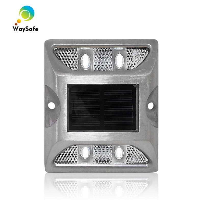 Flashing Mode Decoration Light IP68 White Color Epistar LED Aluminum Solar Powered 3M Road Stud