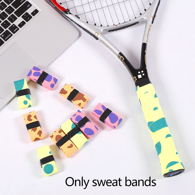 12pcs Safety Matte Racquet Tennis Racket Summer Badminton Clap Grip Replacment Soft Accessories Dumbbell Sweat Band Outdoor