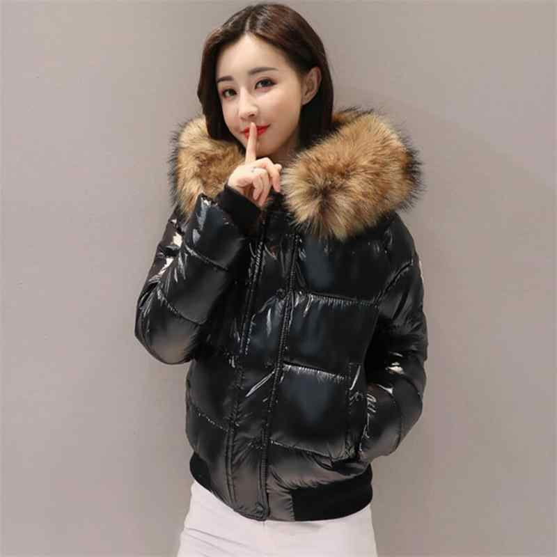 2019 Winter Jacket women Plus Size Womens Parkas Thicken Short Outerwear solid hooded Winter Coat Female waterproof basic tops