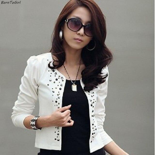 Veste courte blanche et noire